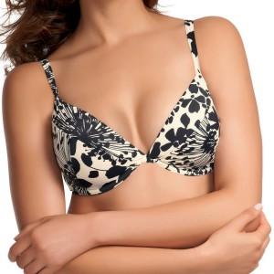 Fantasie Koh Samui Padded Plunge Bikini Top - Black