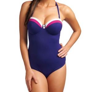 Freya Revival Padded Bandeau Swimsuit - Indigo