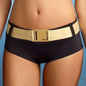 Freya Supernova Bikini Shorts - Black/Gold