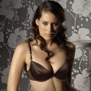 Gossard Superboost Satin Bra - Chocolate