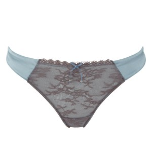 Masquerade Antoinette Thong - Sky Blue/Charcoal