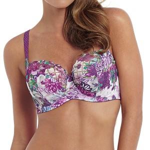 Panache Floris Balconnet Bra - Purple Floral