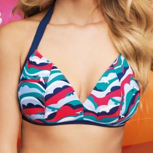 Panache Cleo Tilly Triangle Bikini Top - Bird Print