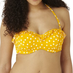 Panache Cleo Betty Bandeau Bikini Top - Yellow