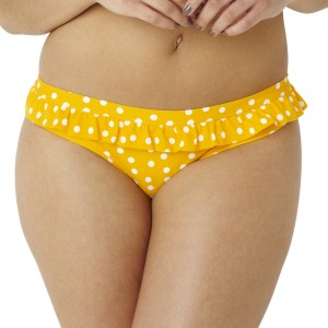 Panache Cleo Betty Frill Bikini Brief - Yellow