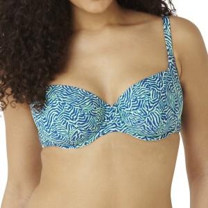 Panache Cleo Hattie Balconnet Bikini Top - Zebra Print