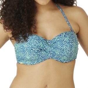 Panache Cleo Hattie Twist Bandeau Bikini Top - Zebra Print