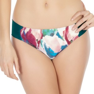Panache Savannah Gathered Bikini Brief - Emerald/Tulip