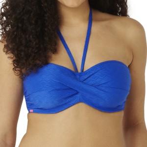 Panache Cleo Matilda Twist Bandeau Bikini Top - Cobalt