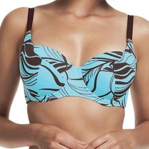 Fantasie Crete Balcony Bikini Top - Aqua