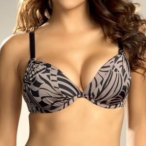 Fantasie Goa Padded Plunge Bikini Top - Black