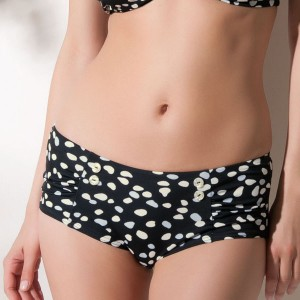 Fantasie Chicago Gathered Bikini Short - Black
