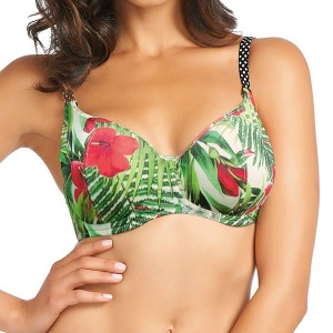 Fantasie Malola Padded Balcony Bikini Top - Raspberry