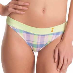 Freya Totally Tartan Thong - Zest
