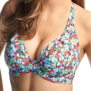 Freya Valentine Banded Halter Bikini Top - Fresco