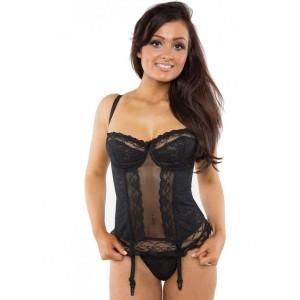 Gemm Lace Style Basque - Black