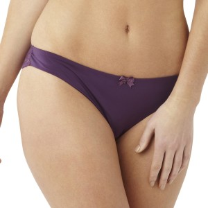 Masquerade Ardour Lace Back Brief - Mulberry