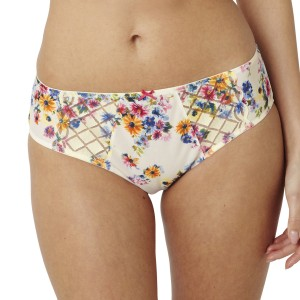 Panache Floris Brief - Ivory/Multi