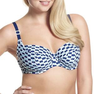 Panache Cleo Lucille Balconnet Bikini Top - Nautical Print