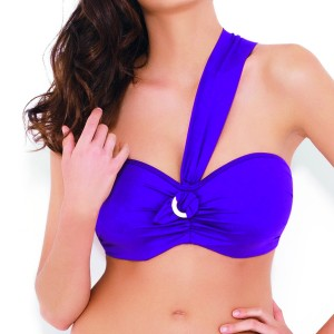 Panache Sophia Bandeau Bikini Top - Purple
