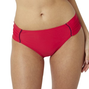 Panache Veronica Gathered Bikini Brief - Red