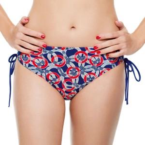Panache Nancy Drawside Bikini Brief - Nautical