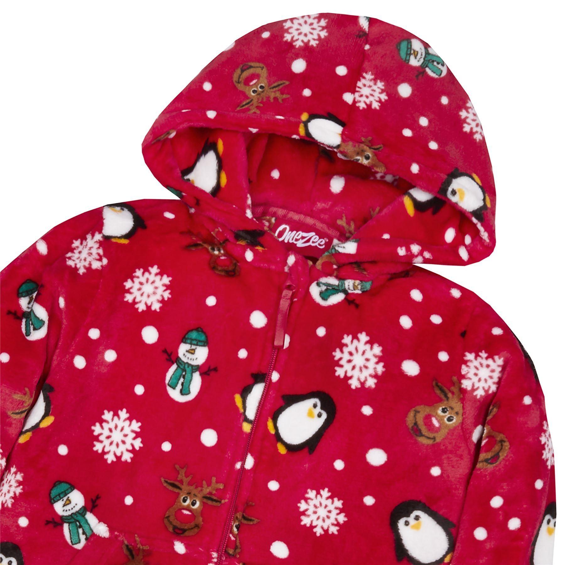 Christmas Fleece.Onezee Kids Christmas Fleece Onesie Red