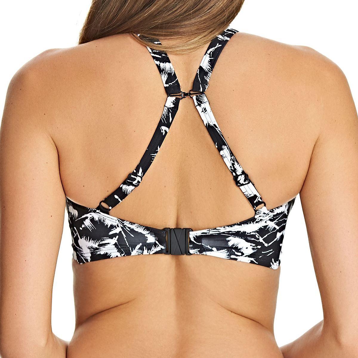 Freya Swimwear Palm Haze High Neck Crop Bikini Top Monochrome 4023