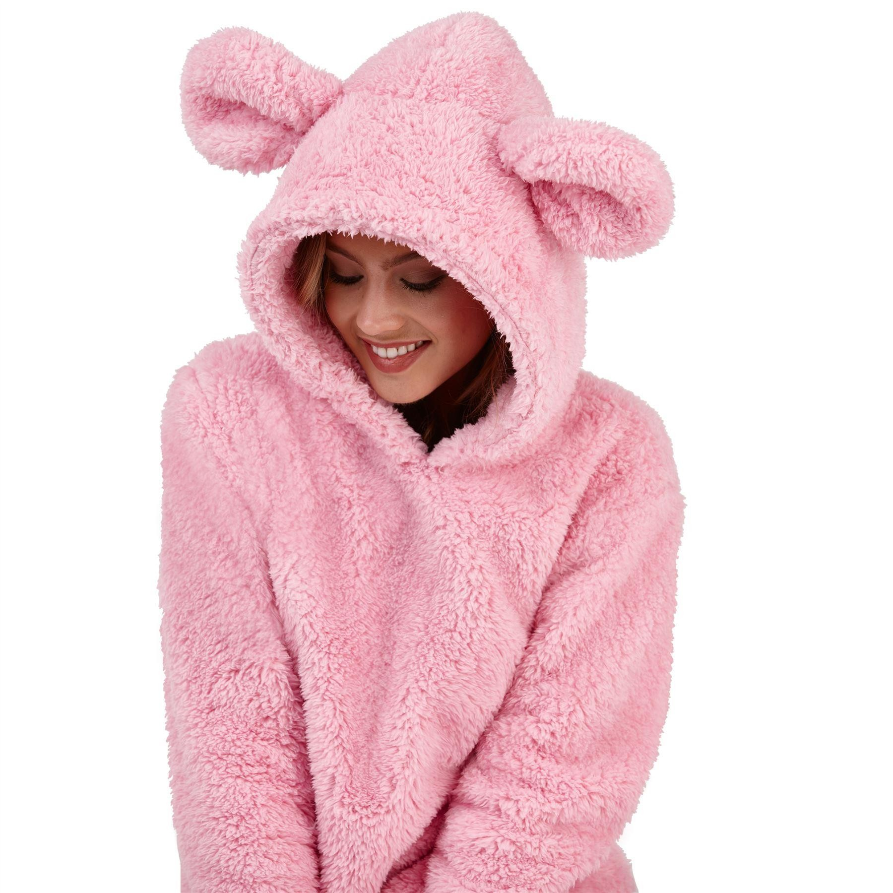 dc0f344f1 Loungeable Boutique Ladies Sherpa Fleece Mouse Twosie - Pink