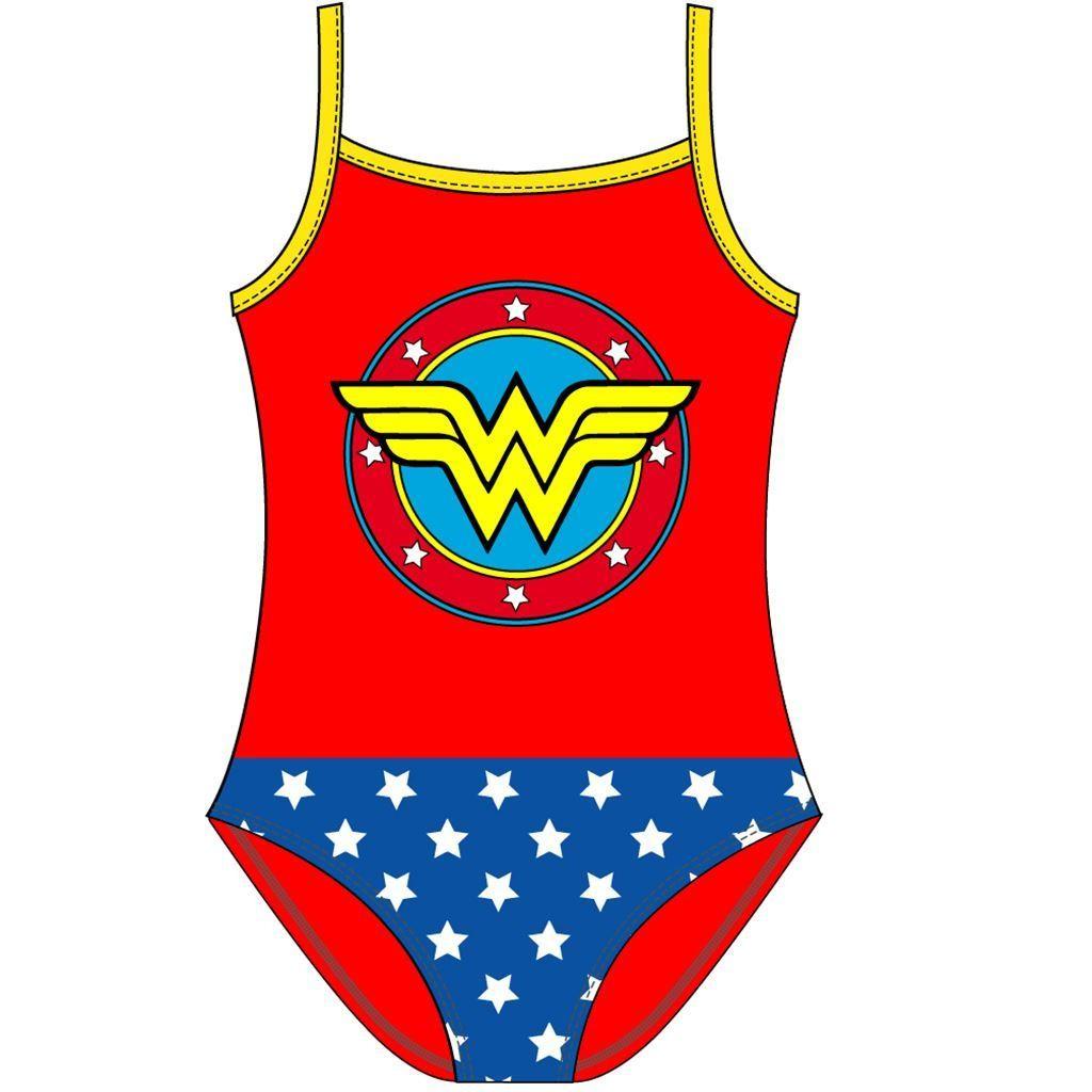 Girls Wonder Woman Costume Swimsuit