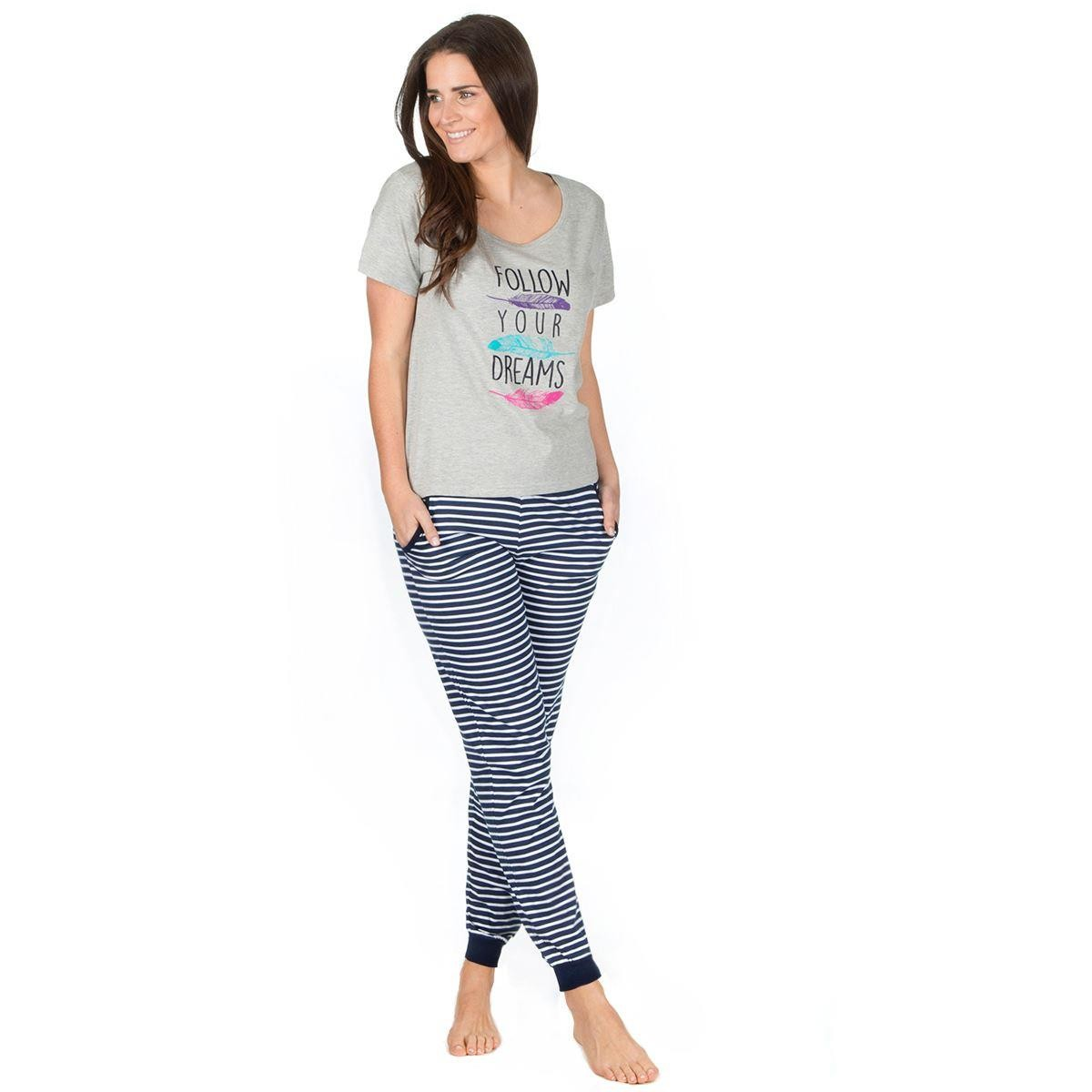 Forever Dreaming 'Follow Your Dreams' Pyjama Set - Grey