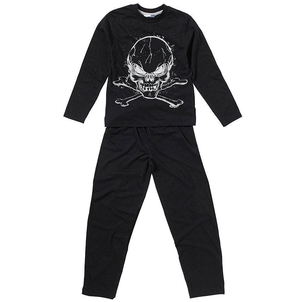 Children's Skull and Crossbones Pyjamas - Black