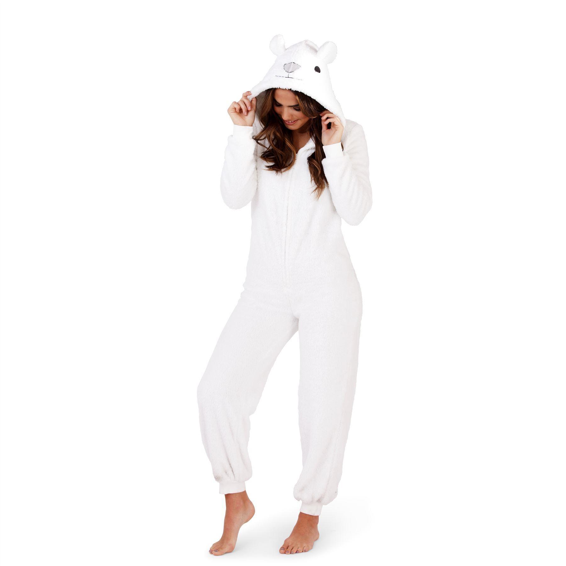 Loungeable Boutique Polar Bear Onesie - White