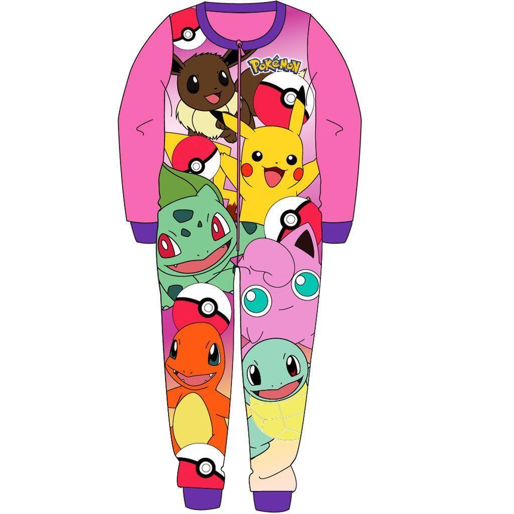 Pokemon Fleece Onesie - Pink