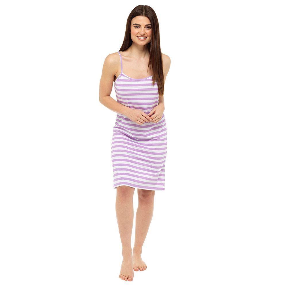 Ladies Chemise - Purple Stripe