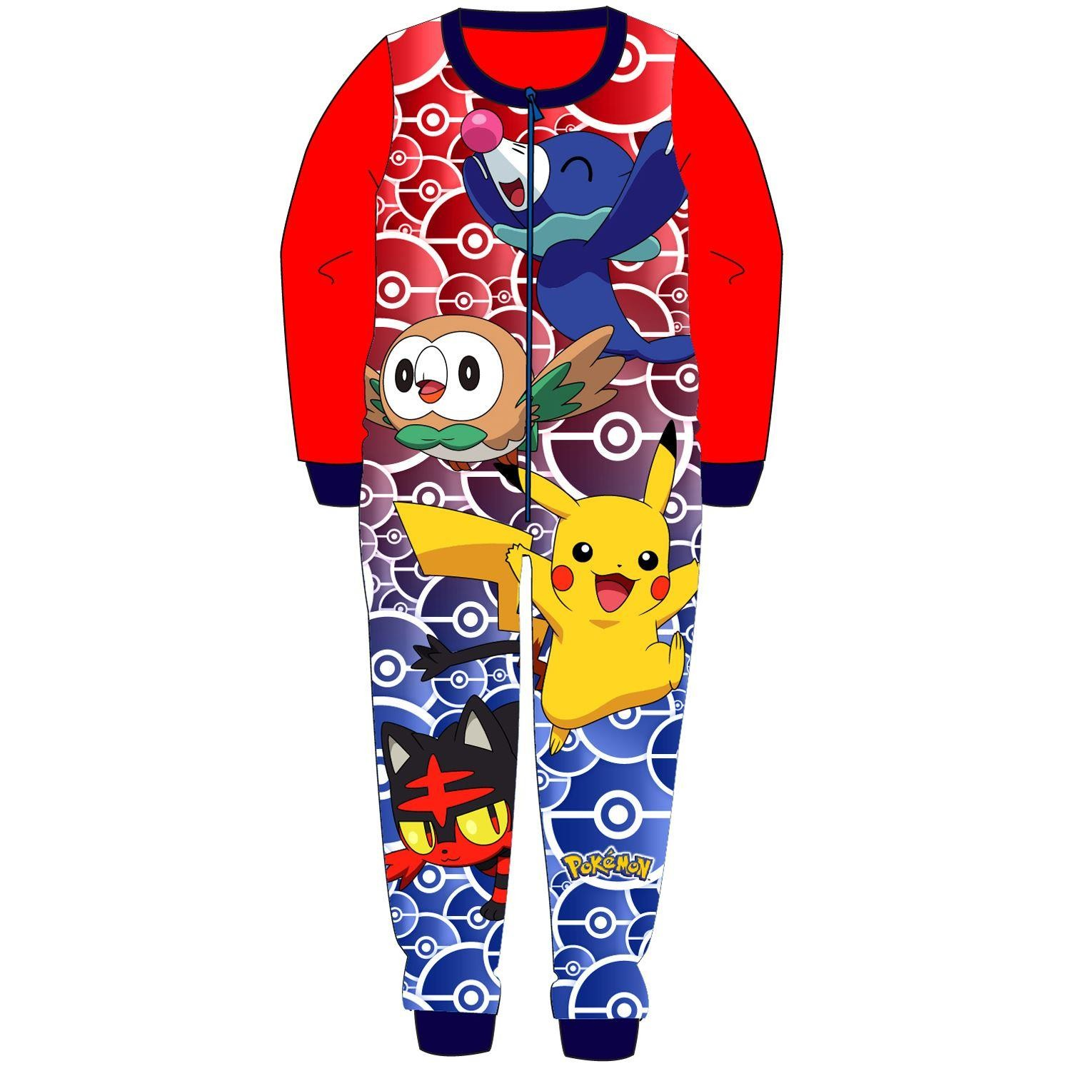 Pokemon Fleece Onesie - Red