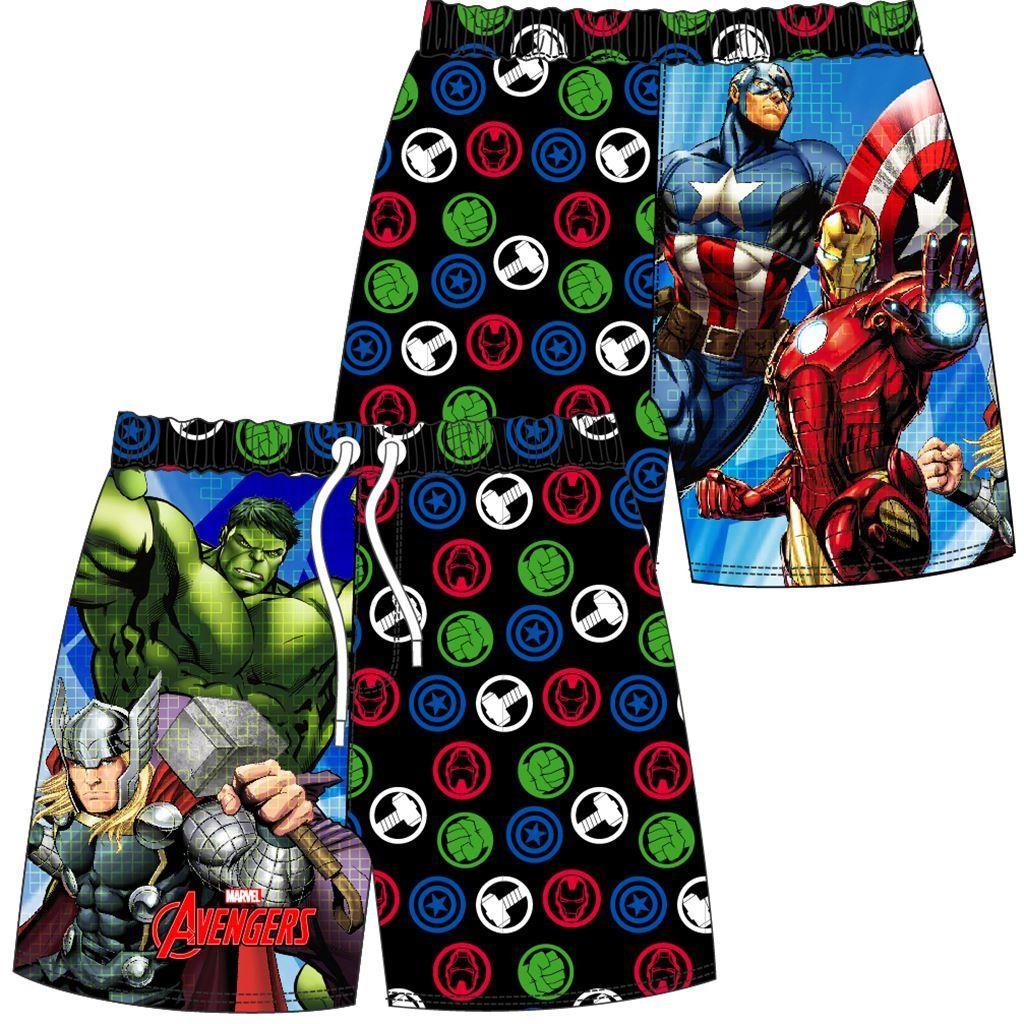 Boys Marvel Avengers Cartoon/Logo Swim Shorts