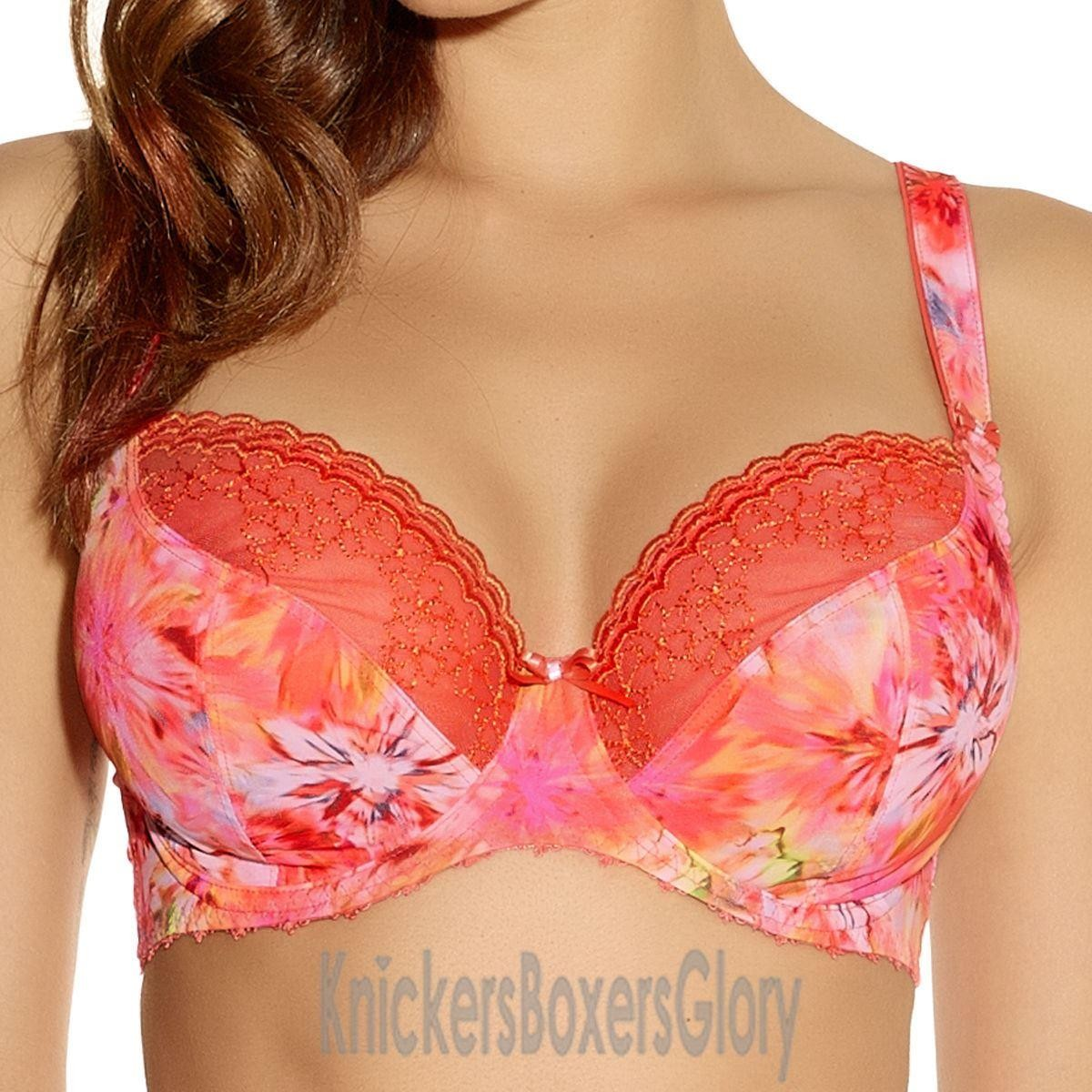 Freya Lingerie Fire Cracker Plunge Bra - Sunset Orange