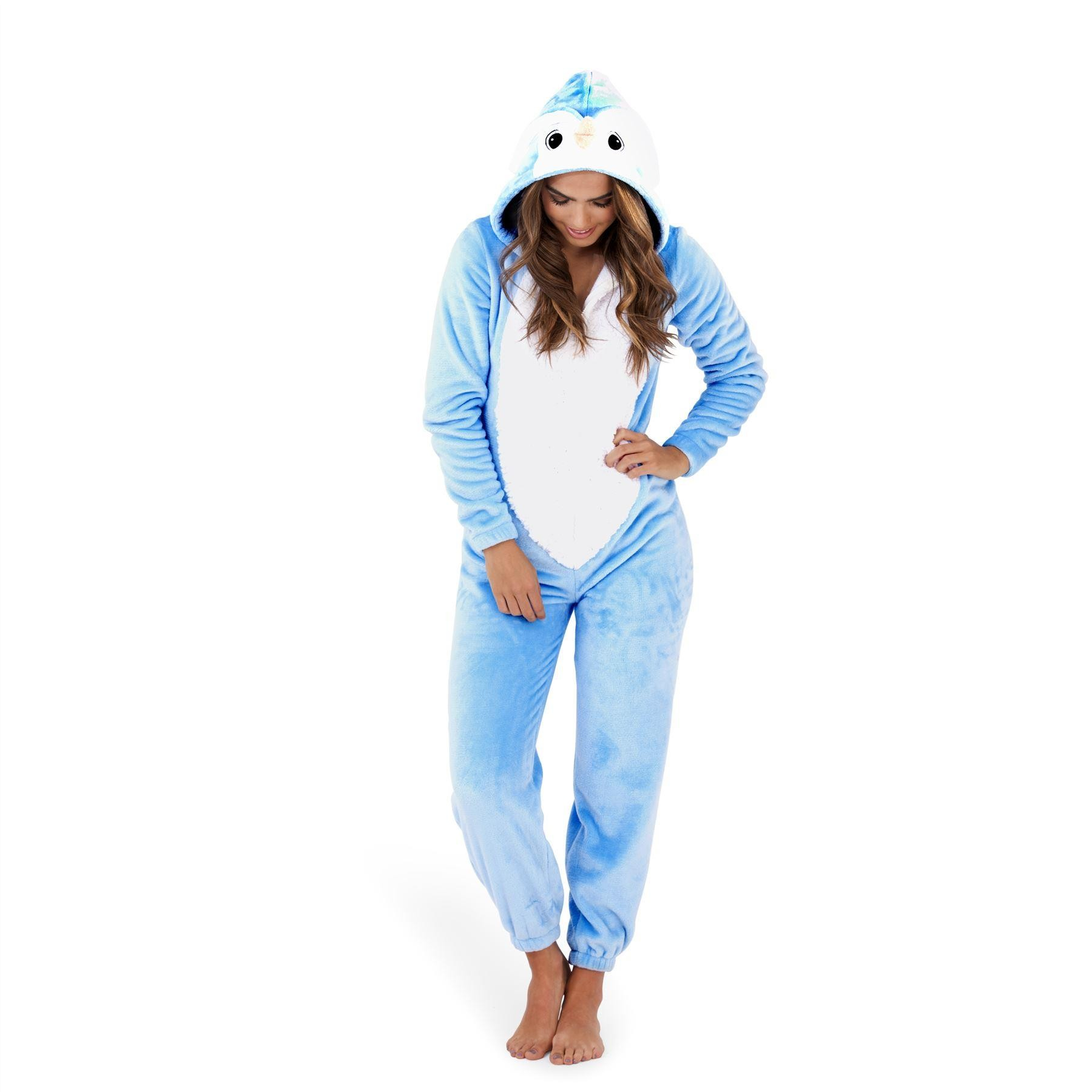 Loungeable Boutique Penguin Onesie - Blue