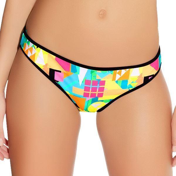 Freya Tribal Trax Low Rise Hipster Bikini Brief - Neon