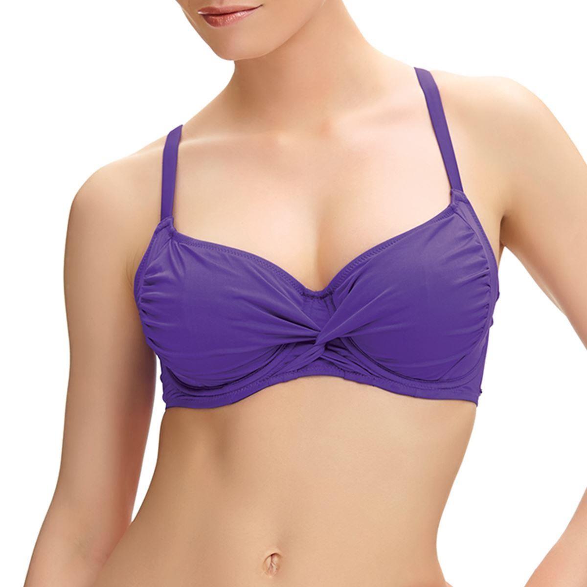 Fantasie Los Cabos Twist Front Full Cup Bikini Top - Violet