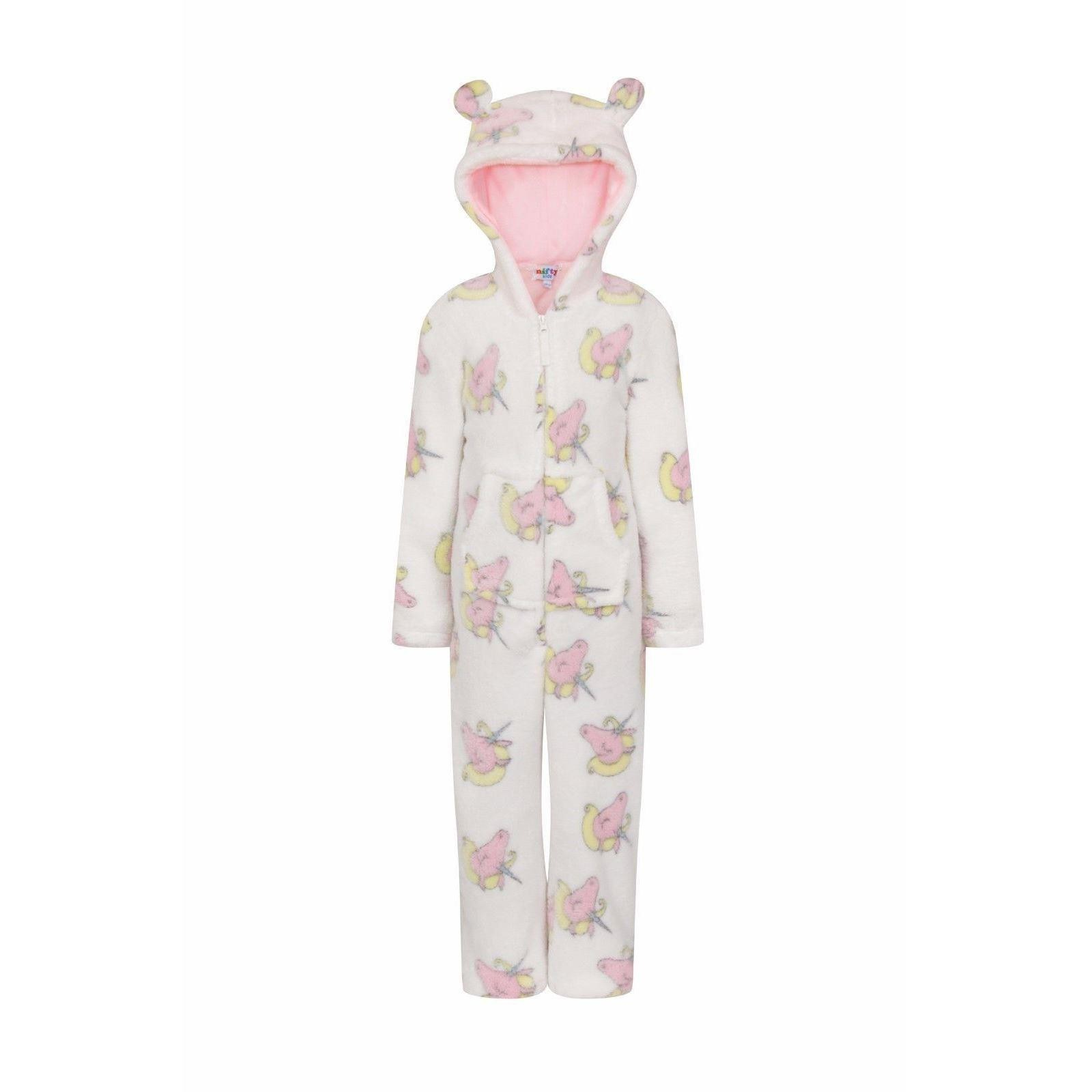 Nifty Kids Unicorn Print Fleece Onesie