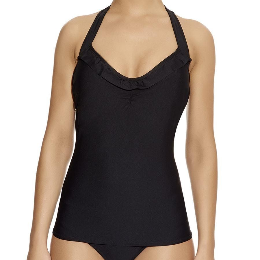 Freya In The Mix 50's Halter Tankini Top - Black