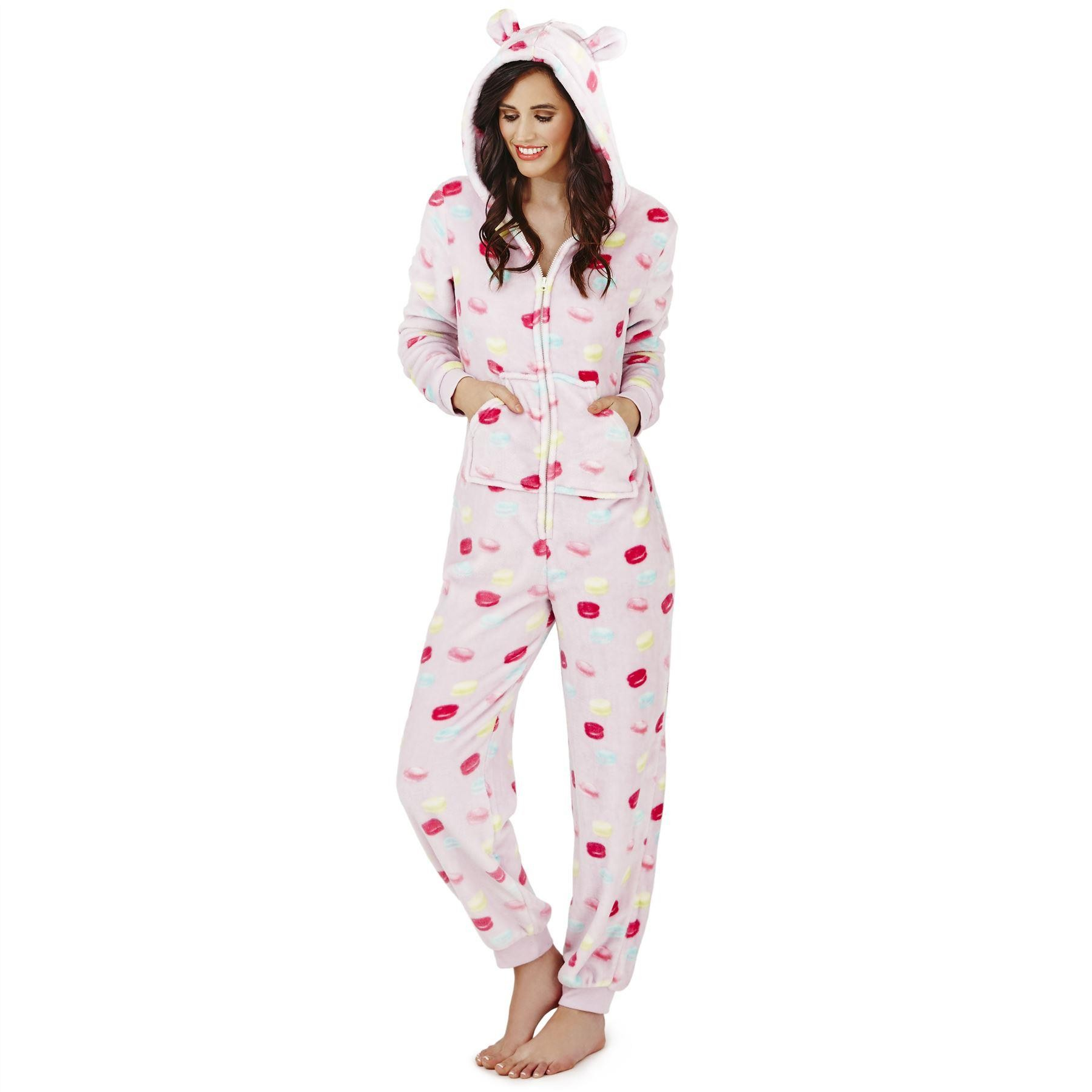 Loungeable Boutique Macaroon Hooded Onesie - Pink