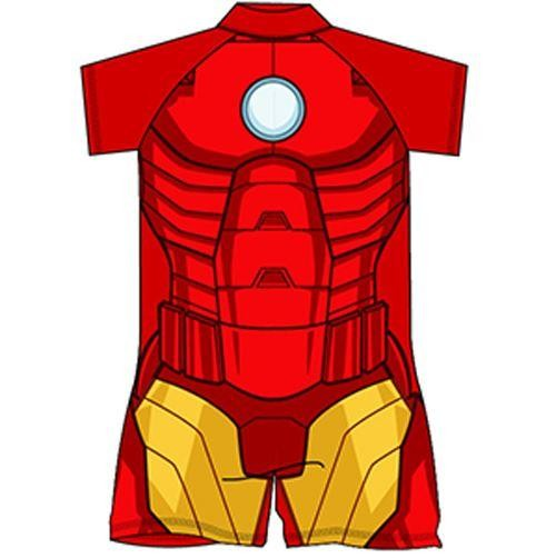 Iron Man Costume Surf Suit
