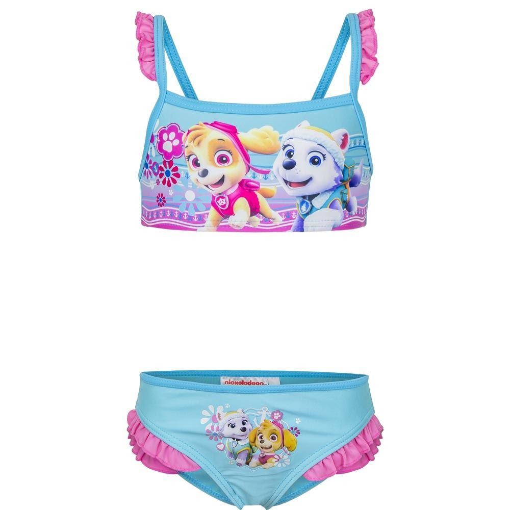 Girls Paw Patrol Skye/Everest Bikini Set Blue/Pink