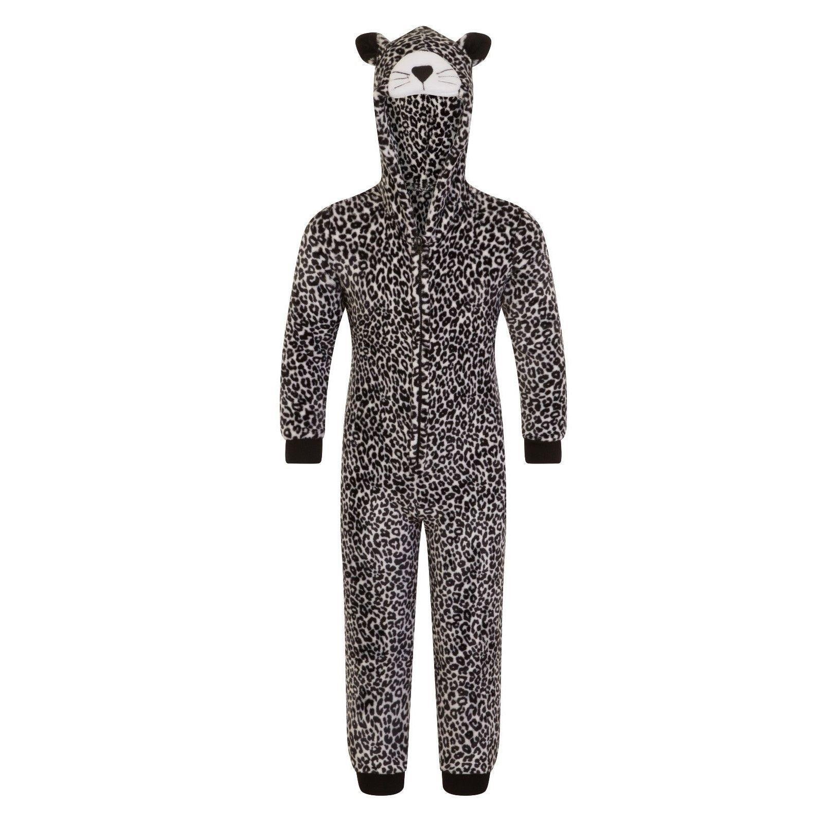 Nifty Kids Leopard Fleece Onesie