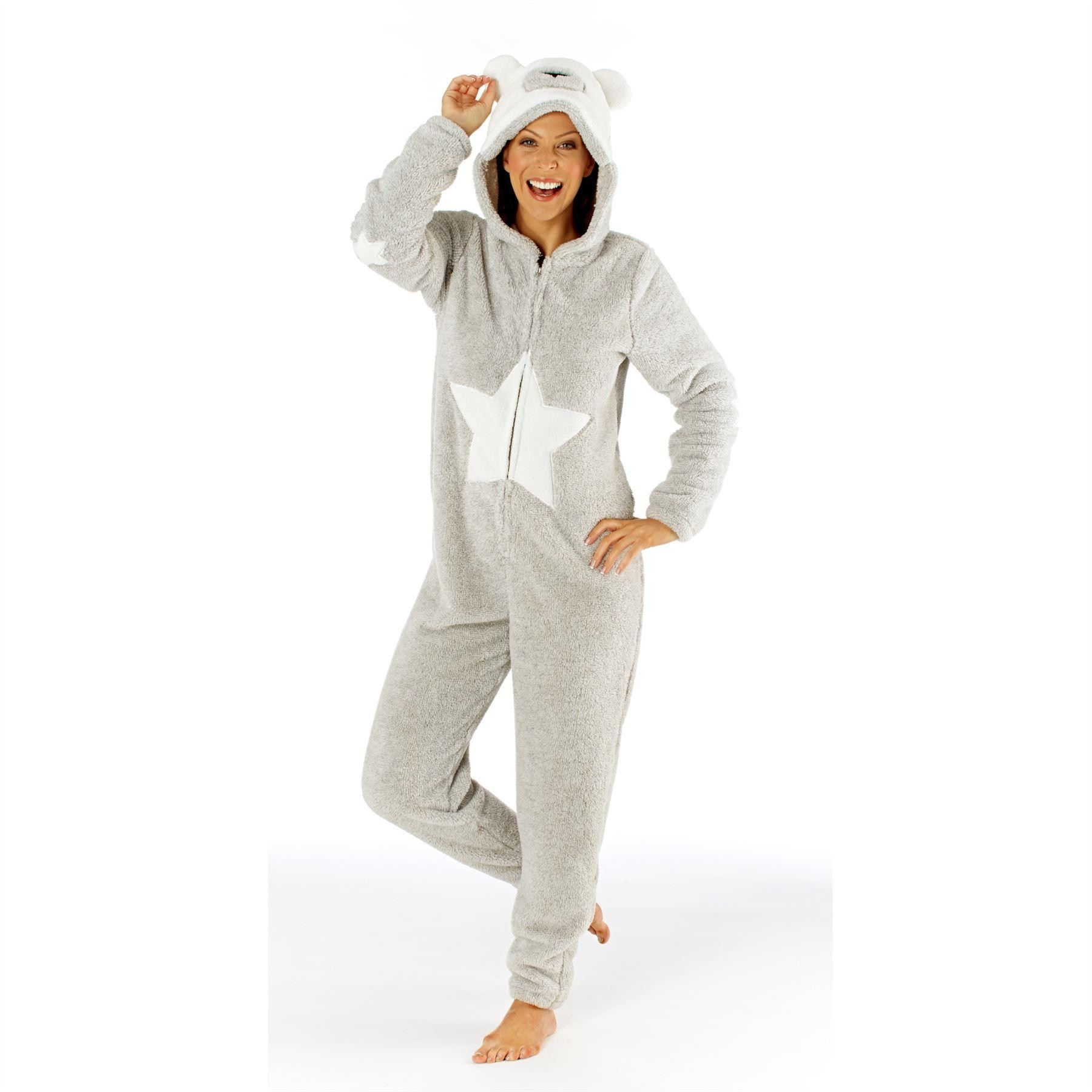 Selena Secrets Polar Bear Onesie - Grey