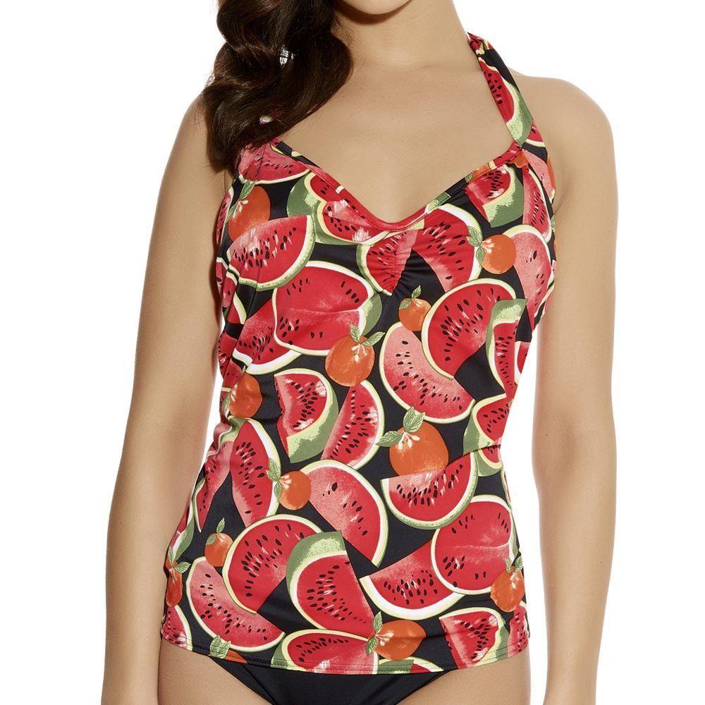Freya Watermelon Tankini Top - Coral