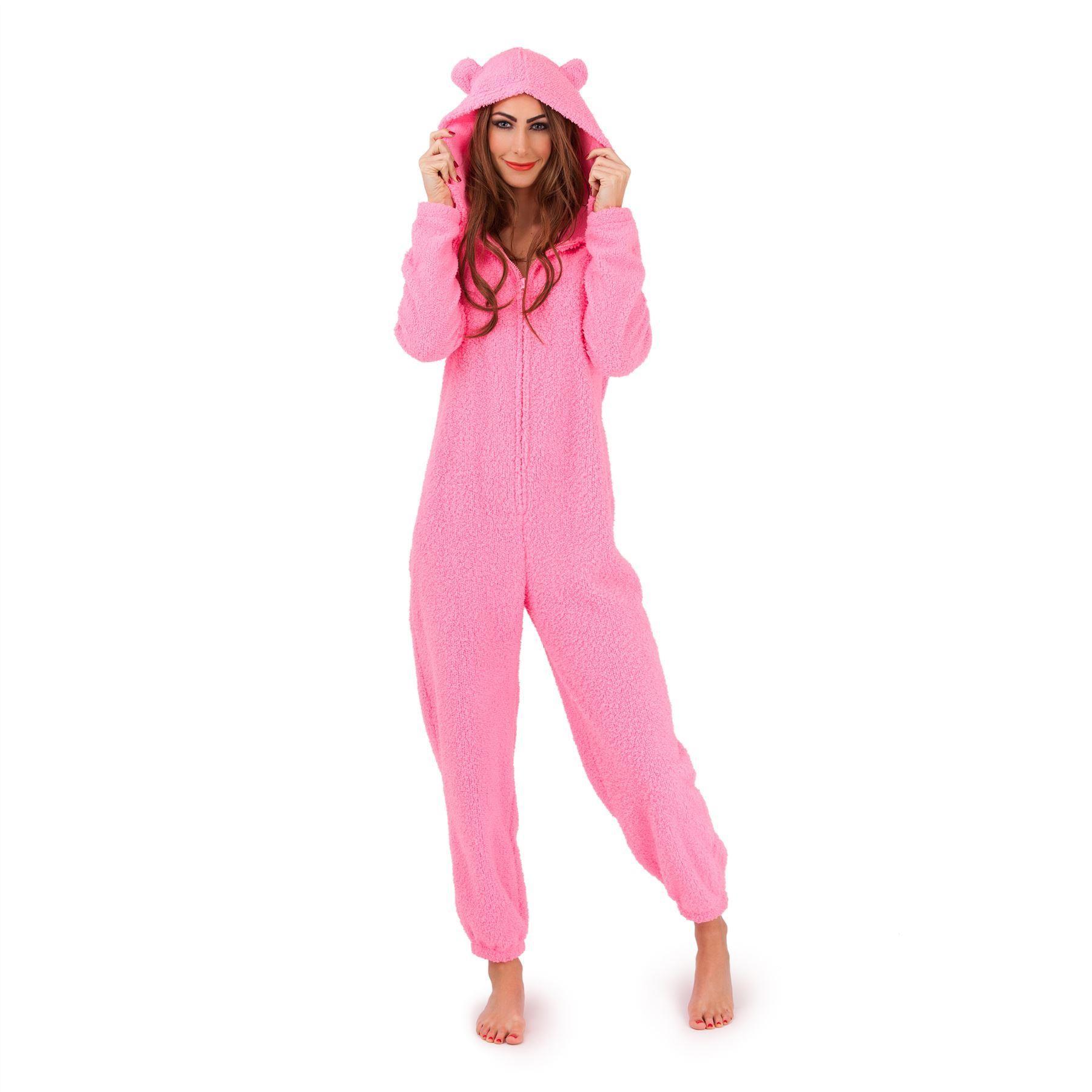 Loungeable Boutique Sherpa Fleece Onesie - Pink